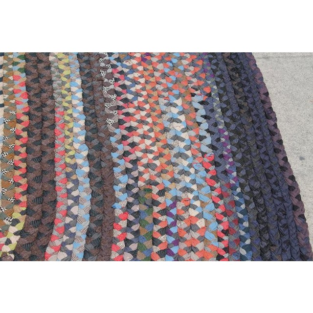 Early 20th Century Large Room Size Braided Rug - Image 4 of 6