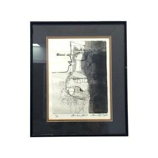 Original Signed Mid-Century Modern Art Print