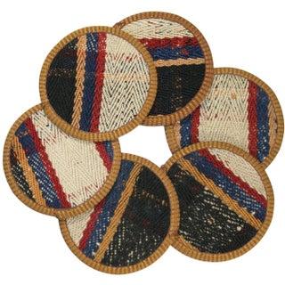 Zincirli Kilim Coasters - Set of 6