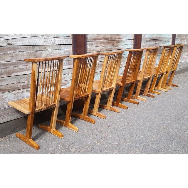 Image of Nakashima Style Conoid Dining Chairs - Set of 7