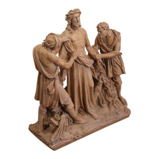 French Terracotta Sculpture of Christ Before Crucifixion