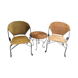 Contemporary Wicker Chairs and Table - 3