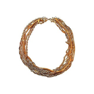Nine Strand Mixed Link Necklace