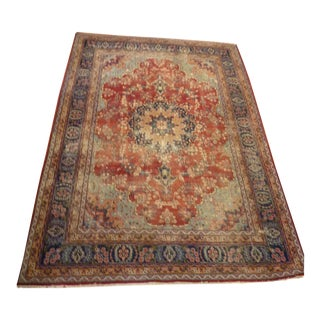 Traditional Sarouk Style Hand Knotted Wool Rug