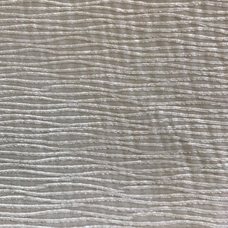 White Wave Textured Velvet Fabric - 2 Yards