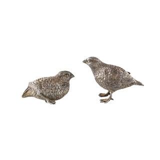 Asprey & Co. Ltd London Gilt Sterling Silver Chicks - A Pair