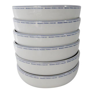 Vintage Airline Bowls, Set of 6
