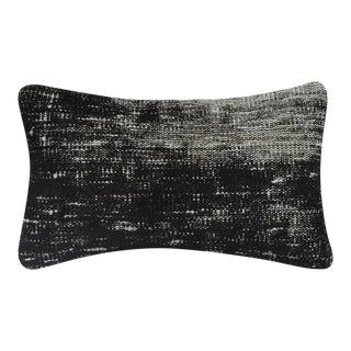 "Black Vintage Handmade Overdyed Pillow Cover 12"" x 20"""
