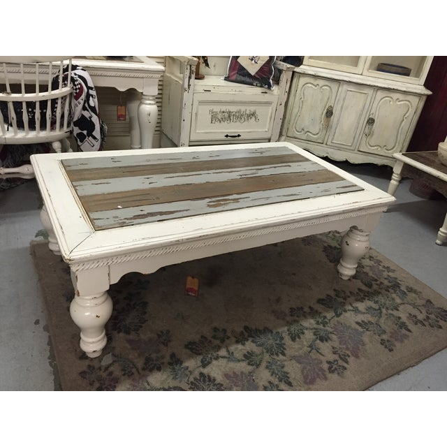 Vintage French Provincial White Coffee Table - Image 2 of 11