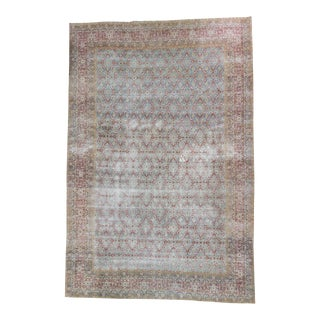 Distressed Antique Oversized Persian Rug - 11′3″ × 17′1″
