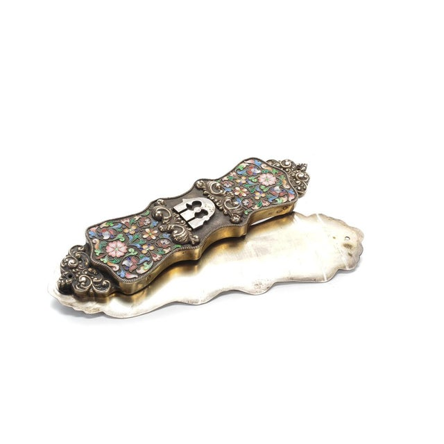 Russian Antique Enamel & Sterling Jewish Mezuzah - Image 1 of 9