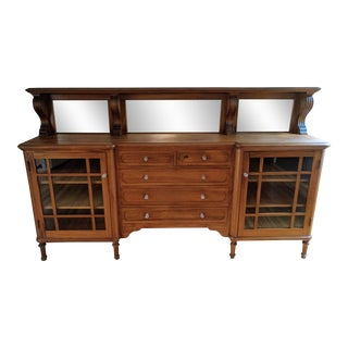 Craftsman Mirrored Credenza Buffet
