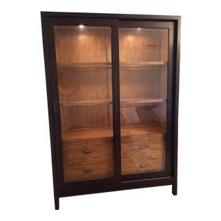 2-Tone Sliding Door Cabinet