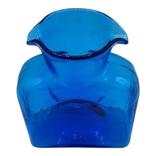 Blenko Blue Water Carafe