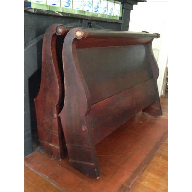 Antique Child's Sleigh Bed - Image 2 of 10