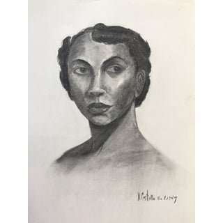 Portrait of a Woman Drawing by V. Costello, 1949