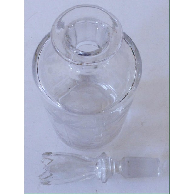 Etched Glass Decanter - Image 3 of 4