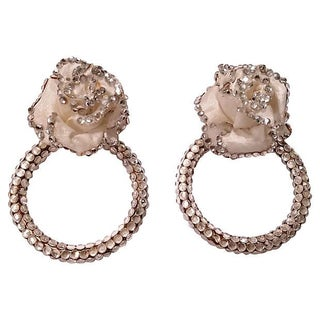 Early Deanna Hamro Crystal & Silk Earrings