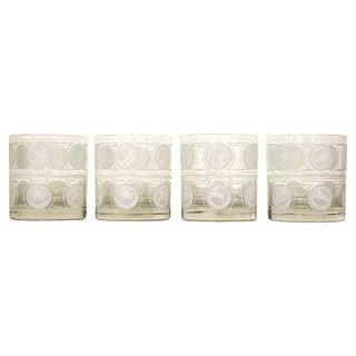 Mid-Century Zodiac Glasses - Set of 4