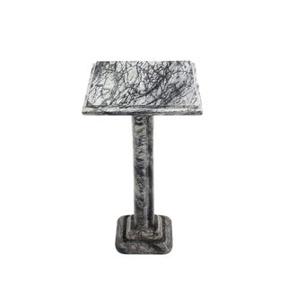 Square Marble Lamp Candle Table or Pedestal