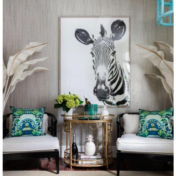 Tylinek Zebra Print in Floating Lucite Frame - Image 2 of 2
