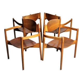 Jens Risom Mid-Century Modern Chairs - Set of 4