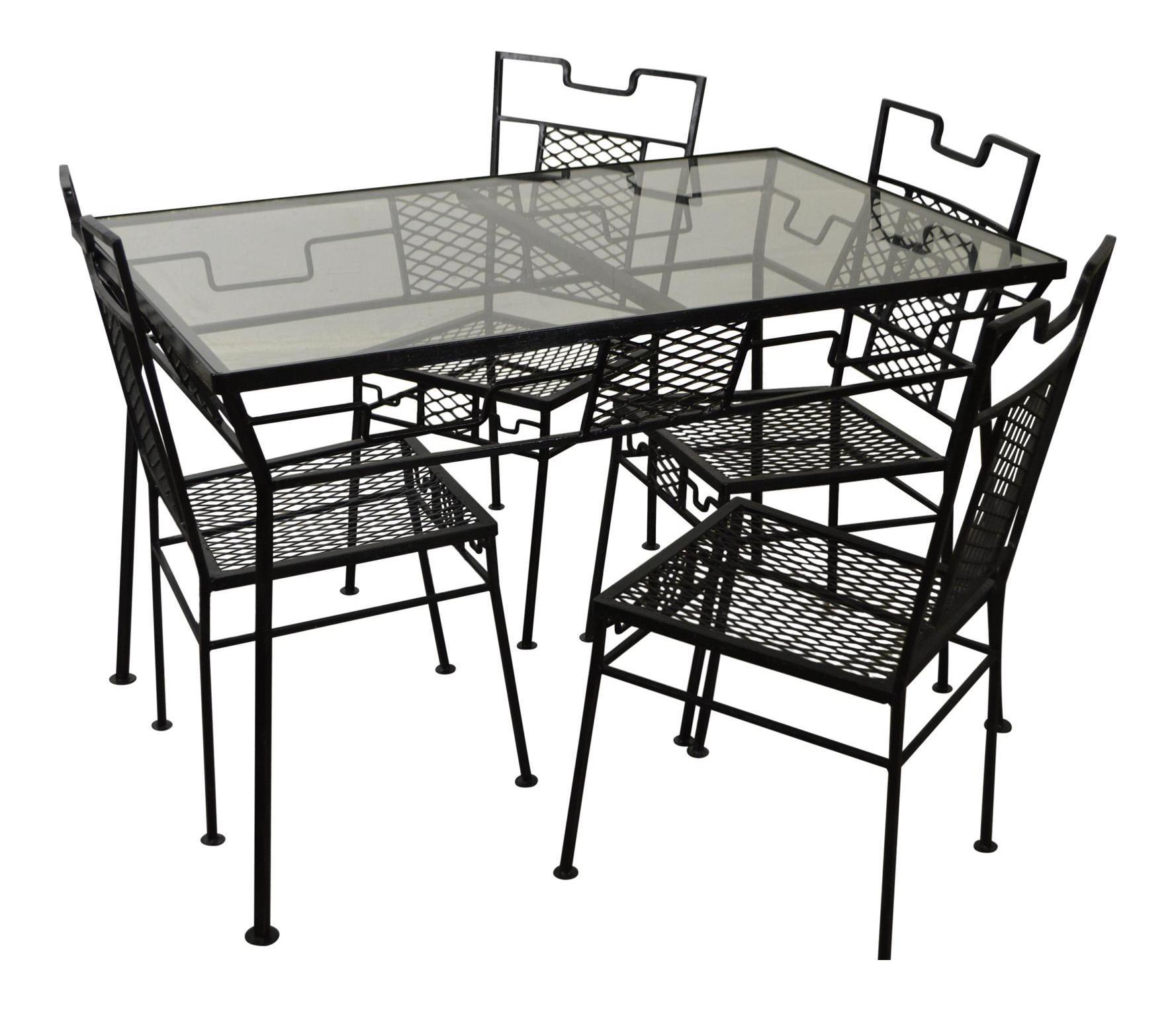 Salterini Mid Century Metal Patio Table U0026 Chairs   Set ...