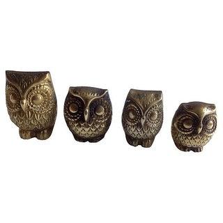 Brass Owl Family- Set of 4