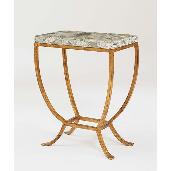 Image of Century Furniture Gilt Base & Stone Top Table