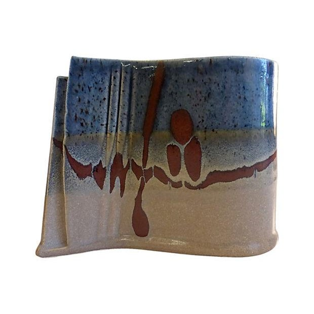 Image of Handmade Signed Pottery Vase