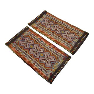 Antique Turkish Kilim Pillow Covers - A Pair