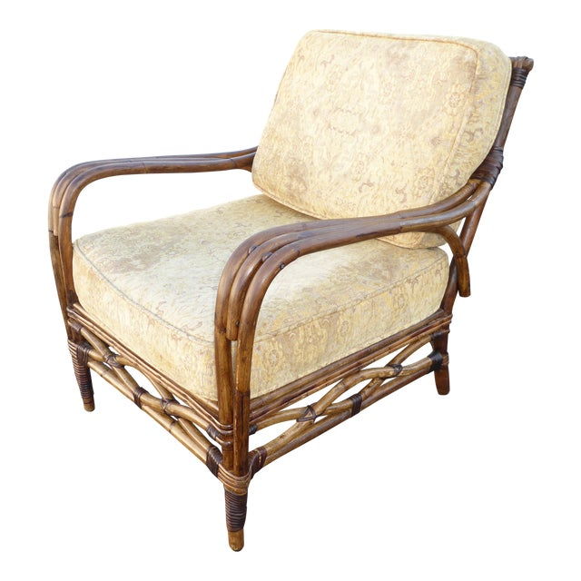 Vintage Rattan Accent Arm Chair - Image 1 of 11