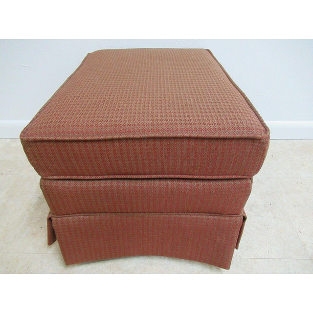 Vintage Ethan Allen Parsons Ottoman Stool - Image 3 of 9