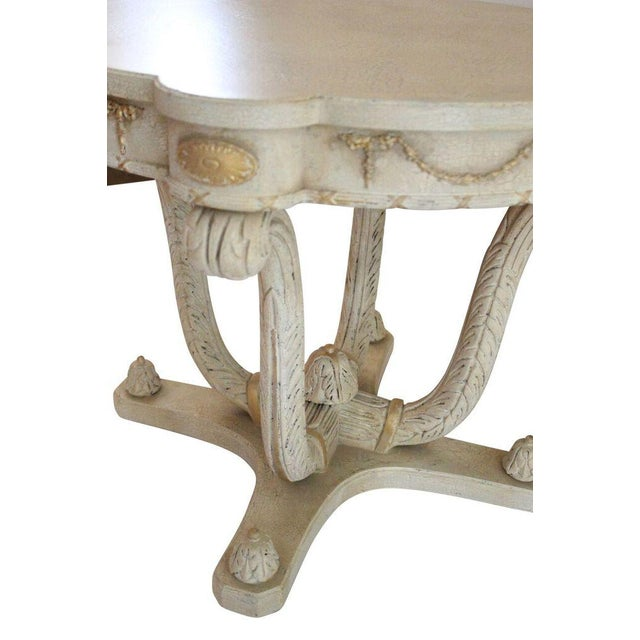 Italian Plume Cream Wood End Tables - A Pair - Image 4 of 4