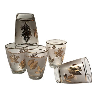 Gold Embossed Shot Glasses - Set of 5