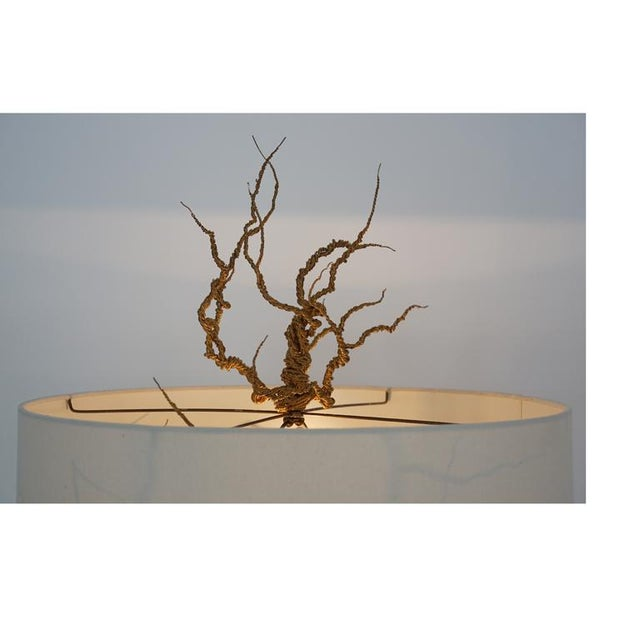 Twisted Brass Wire / Tripod Floor Lamp - Image 6 of 6