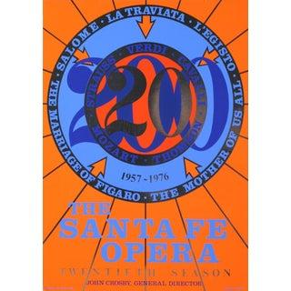Santa Fe Opera Silkscreen Poster by Robert Indiana