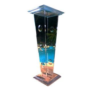 Vintage Clear Pedestal Base