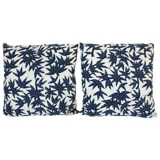 Indigo Nankeen Batik Pillows - Pair