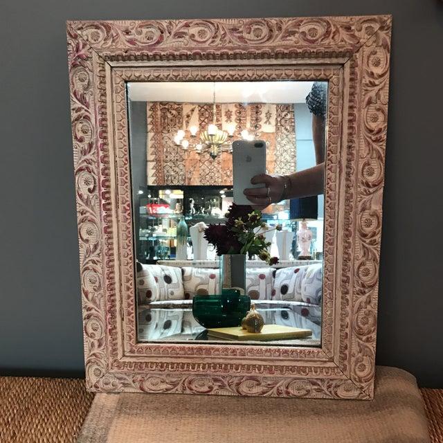 Vintage Carved Wood Mirror - Image 2 of 6