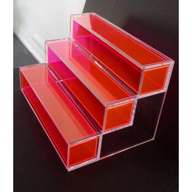 Pink Block Lucite Display Shelving - Image 9 of 10