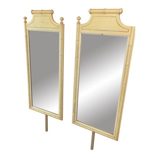 Bali Hai Faux Bamboo Dress Mirrors - A Pair