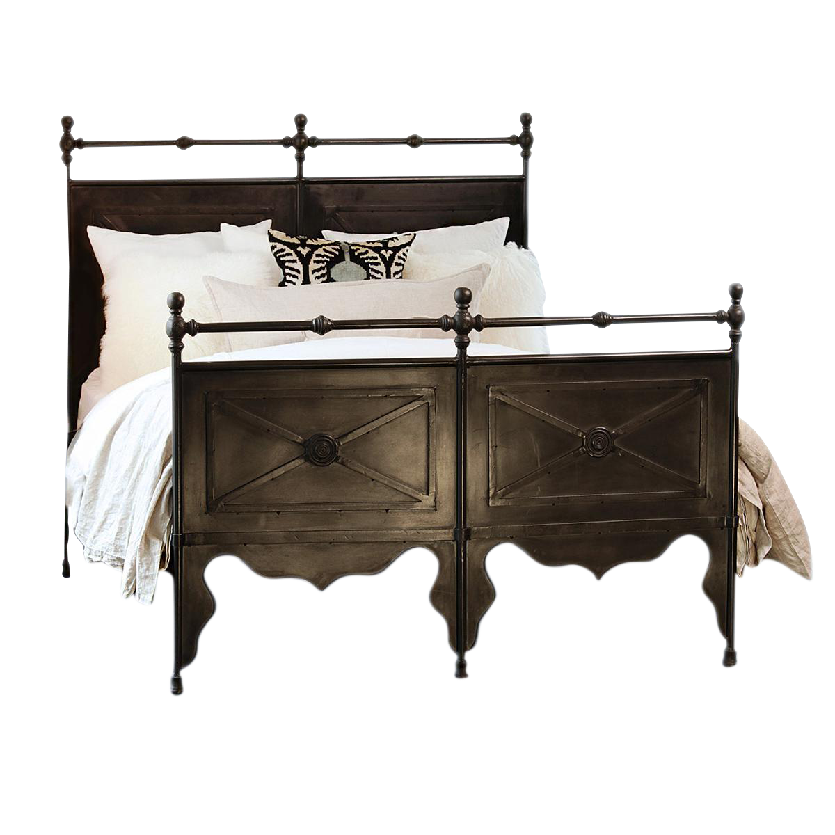 cast iron eastern king bed frame chairish