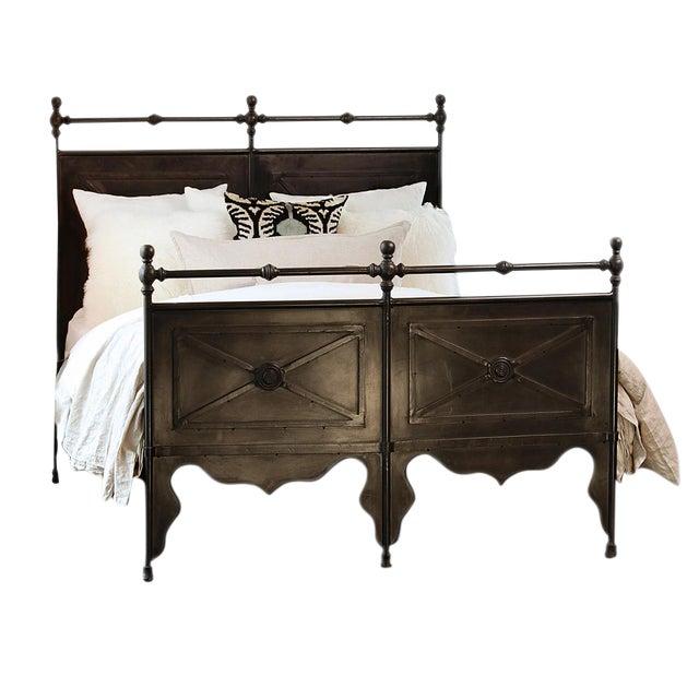 cast iron eastern king bed frame chairish. Black Bedroom Furniture Sets. Home Design Ideas