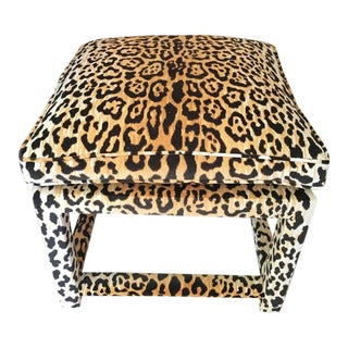 Parsons Style Leopard Bench