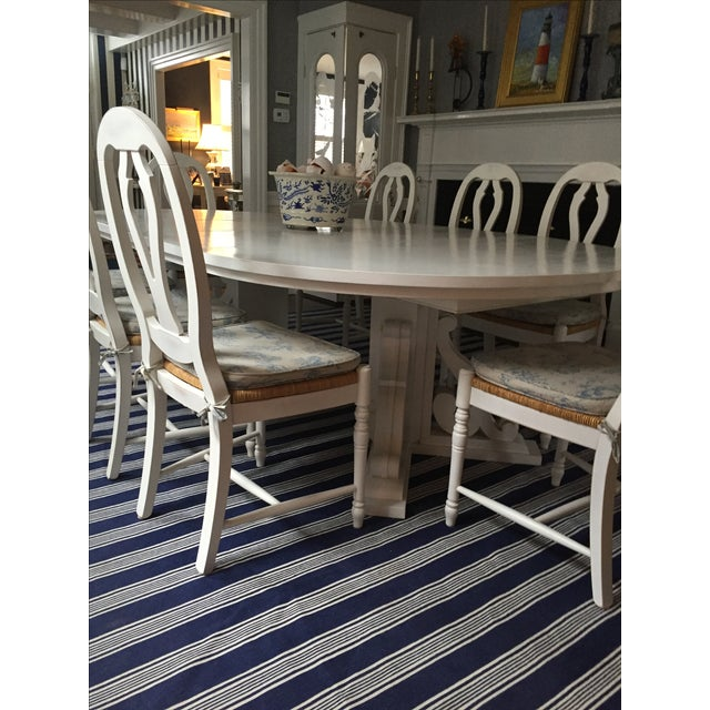 White Dining Table with Two Leaves - Image 6 of 6