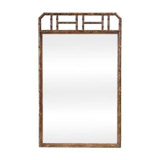 Bamboo Form Frame Tortoiseshell Mirror