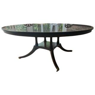Maison Jansen Style Round Mahogany Dining Table
