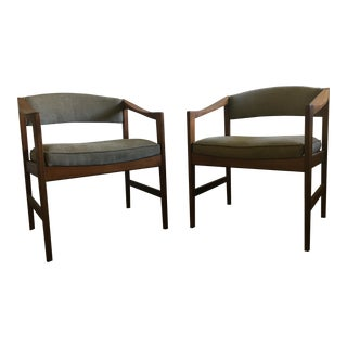 Edward Wormley Quinn Style Accent Chairs - Pair