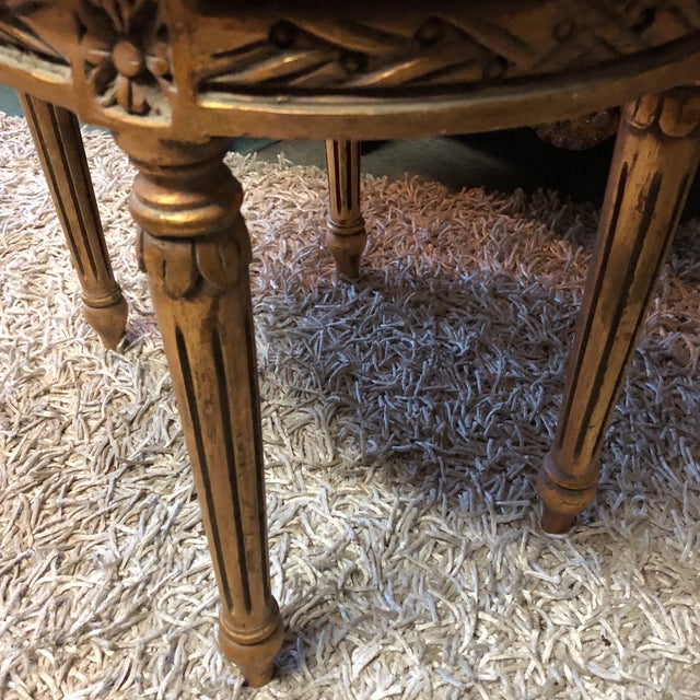 French Louis XV Neoclassical Stools - A Pair - Image 7 of 7